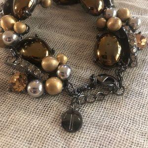 Talbots chunky multitextured bracelet